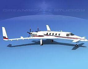 3D model Beechcraft Starship 2000 T16