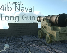 3D model 4ib Naval Long Gun