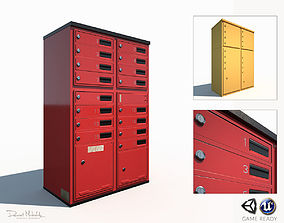 Mailbox Low Poly PBR 3D model game-ready