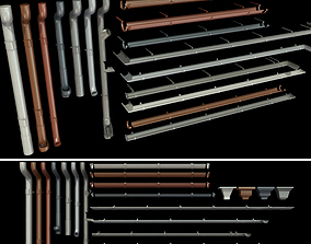 3D Gutter and Elements of the drainage system