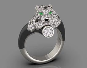 panther ring cougar 3D printable model