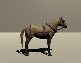 Full Rigged Inc Face Horse Model with Textures rigged