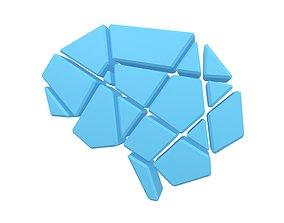 3D model Brain Symbol v2 003