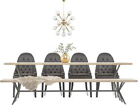 3D model Dining Furnitures Set 34