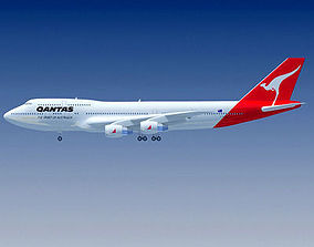 Qantas Airways Boeing 3D model