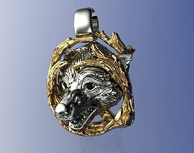 3D print model Wolf MGT Pendant