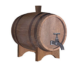 Old Wine Cask 3D model VR / AR ready