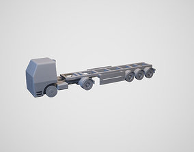3D model animated Lkw mit Auflieger - truck with trailer
