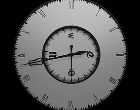 Animated Clock 3D asset