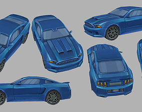 3D jet Ford Mustang