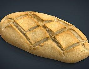 3D asset low-poly Bread