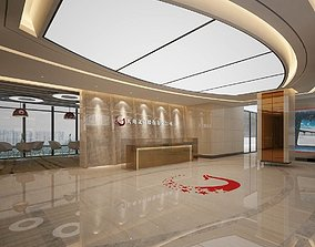 office reception hall design complete 14 3D
