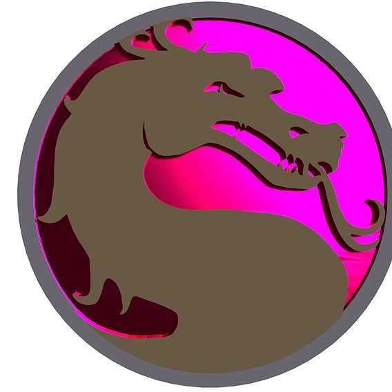 Mortal Kombat Dragon Logo 3D Simulation