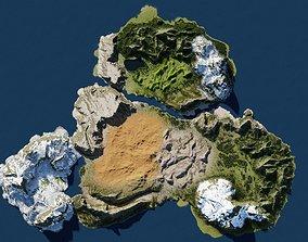 3D Map001 biomes in Blender