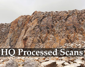 Cliff and Rock scan Collection Real- PBR Low 3D asset 2