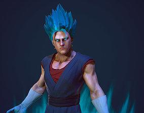 Vegito son Goku 3d model PBR realistic animated