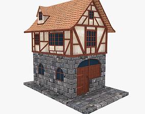 Medieval Building Townhouse 3D asset