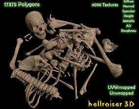 Dead Skeleton - 2 - PBR - Textured 3D model