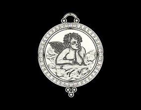 Angel of Sistine Madonna by Raphael 3D printable model