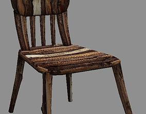 Wood Chair house 3D print model
