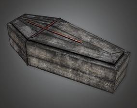 3D asset Cemetery Coffin 4 CEM - PBR Game Ready