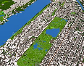 3D model Upper Manhattan New York 2 September 2020