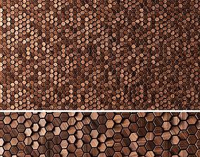3D panels Wooden Hexagon