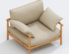 3D DEDON Tibbo Lounge chair XL contemporary