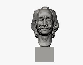 Salvador Dali Bust 3D printable model