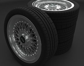 BBS wheel with tire ready to print 3D printable model