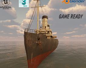 Passenger Ship Lowpoly 3D model