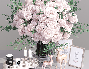 3D model Realistic Classic Decorative Set French Rose 2