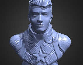3D printable model Captain America Bust 2