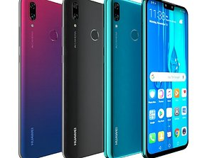 Huawei Y9 2019 All Color 3D model