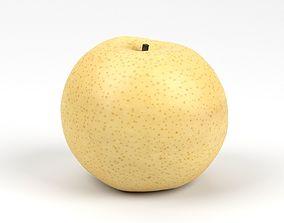 3dmodel Photorealistic Nashi Pear 3D Scan