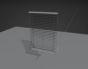 3D model rigged window blinds