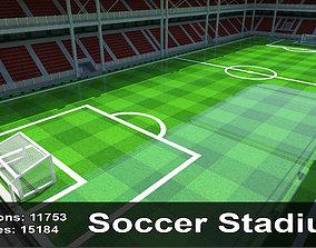 Soccer Stadium 4 3D model VR / AR ready