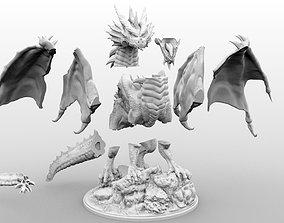 3D print model High Resolution Gargantuan Red Dragon 1