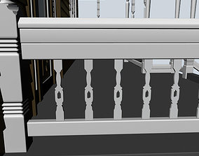 hall 3D model Baluster