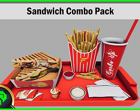 Sandwich Combo Pack 3D model game-ready