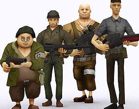 3DRT - Brutal Army Squad gun animated