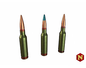 3D asset Bullet 545x39 Set PS PP T