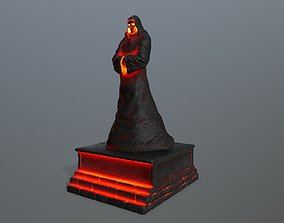 3D model game-ready lava statue