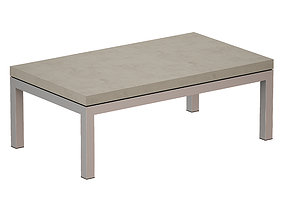 3D Parsons Concrete Stainless Steel Coffee Table