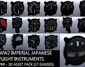 WW2 IMPERIAL JAPANESE FLIGHT INSTRUMENTS - ASSET low-poly