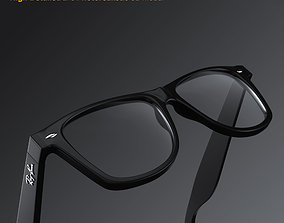 3D model Ray-Ban New Wayfarer glasses