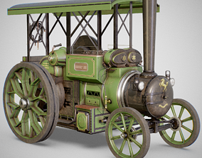 Steam Tractor - Aveling Barford 3D asset