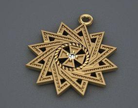 3D printable model pentagram pendant 21