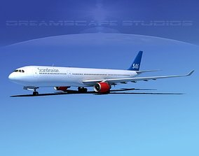 Airbus A330-300 SAS 3D model
