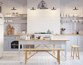 White Scandinavy Home 3D